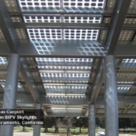Commercial parking structure wanted some natural light transmission. We designed a custom module.