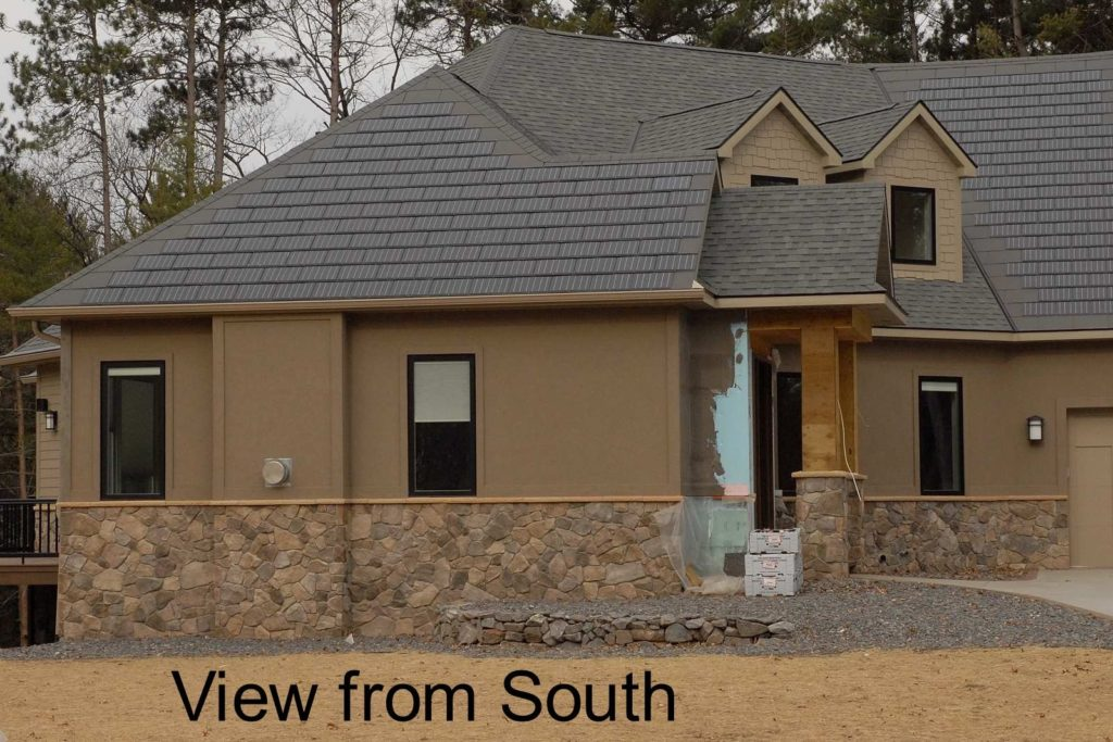 Central Wisconsin home as work is being completed. The roof has a BITERS thermal system under Sunslates.